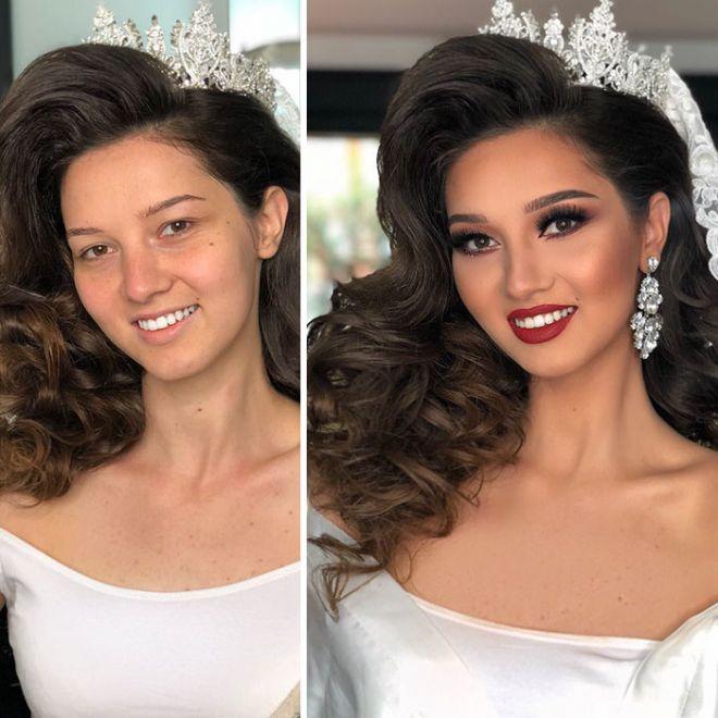 Страшная сила красоты: 11 невероятных изменений невест