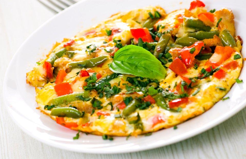 Омлет с овощами для ПП-ужина!