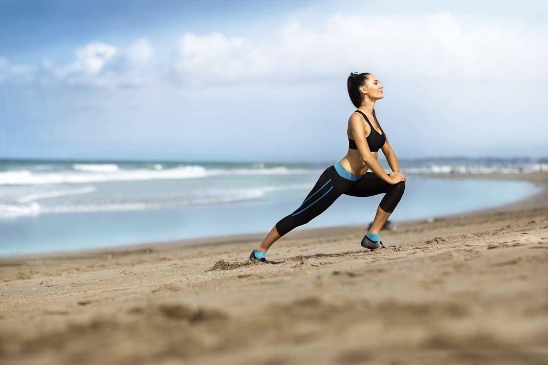 Кардио-тренировка на пляже